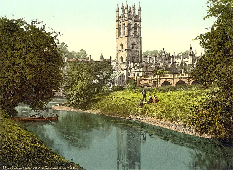 Oxford, Magdalen Tower in the 1890's